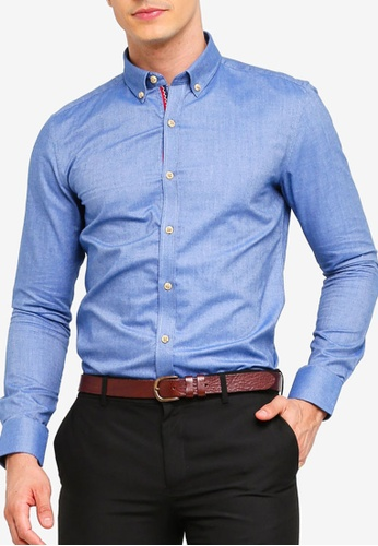a3c3a0179 Buy UniqTee Oxford Slim Fit Long Sleeve Shirt Online | ZALORA Malaysia