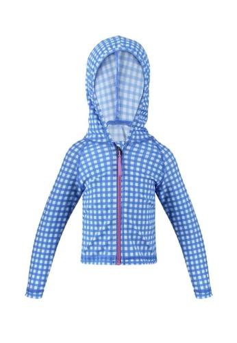 FUNFIT blue UPF50+ Junior Hoodie (Unisex) in Gingham Summer Print 29315KA1FAE749GS_1