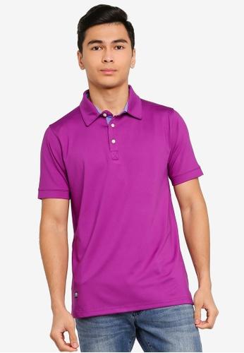 UniqTee purple Loose Fit Polo Shirt 4F6C4AA14A71D5GS_1