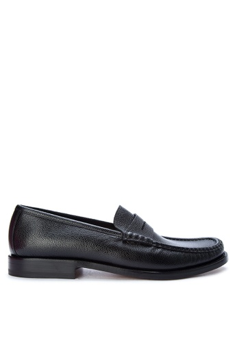 Moreschi black Men's Casual Dress Shoes Penny Loafer MO298SH0K4BUPH_1