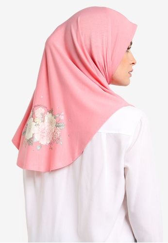 Cloverush pink Vera Instant Scarf CL245AA0RNSCMY_1