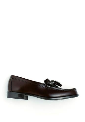 HARUTA 褐色 鬚鬚樂福皮鞋 3C176SHECAB183GS_1