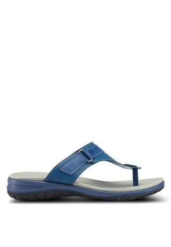 Bata 藍色 休閒夾腳涼鞋 00014SHDD7E156GS_1