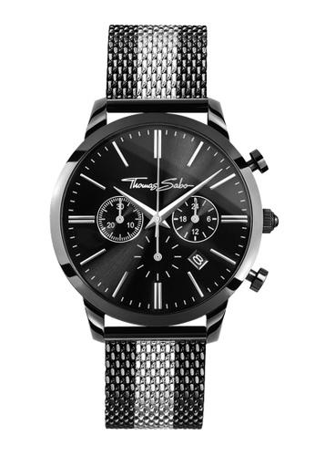"Thomas Sabo black Men's Watch ""REBEL SPIRIT CHRONO"" TH376AC0GM3HSG_1"