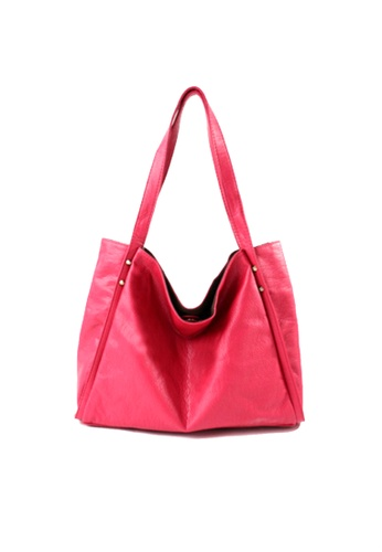 Sesura red Delicate Look Studded Tote SE113AC81FUWPH_1
