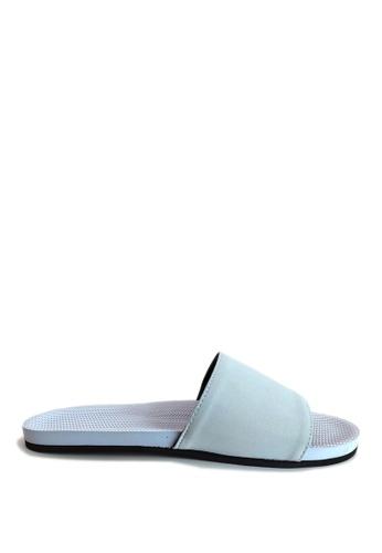 Indosole blue Indosole Women's ESSNTLS Slides - Light Shore 97AA5SHED98152GS_1