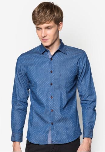 點點丹寧長袖襯esprit tst衫, 服飾, 襯衫