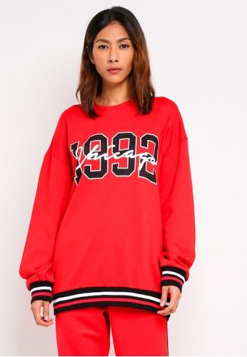 Supre red Varsity Sweatshirt 2210EAA972E1A0GS_1