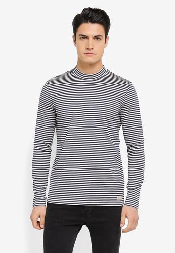 ESPRIT grey and white Long Sleeve T-Shirt ES374AA0SZU7MY_1