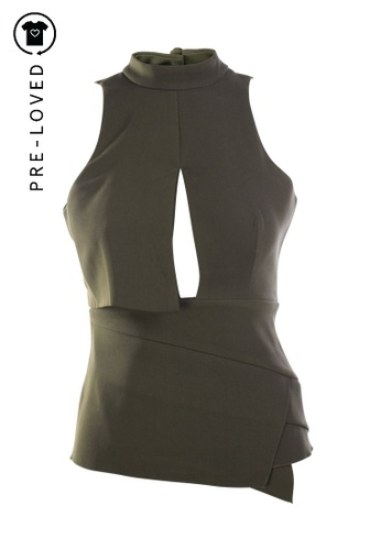 C/Meo Collective green Pre-Loved c/meo collective Cut Out Top 014FAAA6642F80GS_1