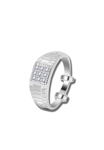 SC Tom Silver silver Stone Ring SC872AC05XLUPH_1