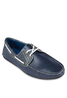 Weave Patterned Boat Shoes