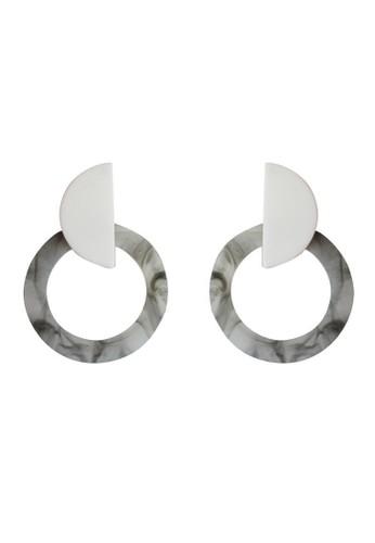 TOUGO white Toronto Earrings in White 5FD89ACA749353GS_1