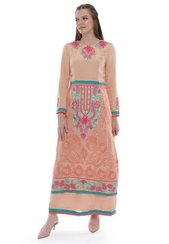 """Devain Kapoor orange """"Euphoria"""" Gown A8917AAE2B06B1GS_1"""