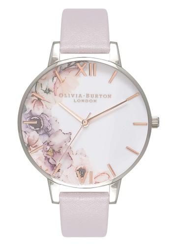 Olivia Burton silver WATERCOLOUR FLORALS Silver 38 mm Women's Watch C1C44ACB5608F7GS_1