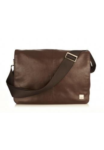 Knomo Brown Kin 13 Soft Leather Messenger Bag B23b1ac405d755gs 1
