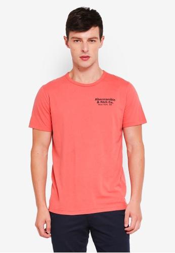 Abercrombie & Fitch 紅色 LOGO印花T恤 C79ABAA9D54E67GS_1