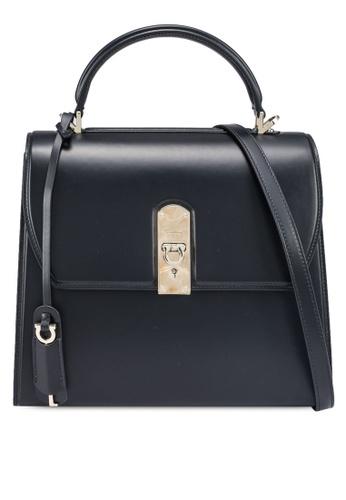 Ferragamo black Boxyz Top Handle Bag (zt) F99DBACCCC136FGS_1