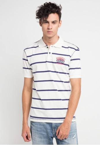 Bombboogie white and multi Polo Shirt Stripe BO419AA0V6ZGID_1