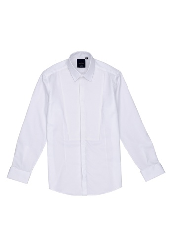 Benjamin Barker white Kashuku 100/2 Easy Iron Tux Shirt 39502AA6B57790GS_1