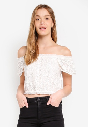 Abercrombie & Fitch white White Lace Top 7CCFDAA3CD11EEGS_1
