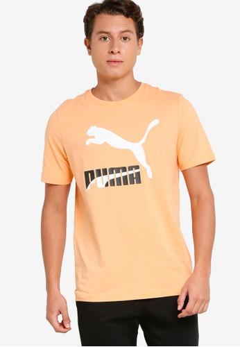 PUMA orange Classics Logo Men's Tee FACF6AA6D154FDGS_1