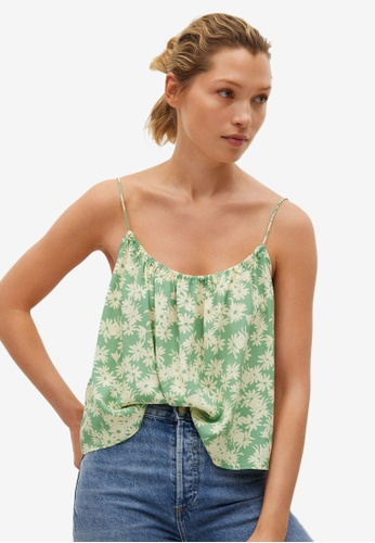 Mango green Floral Print Top 7875BAA88655E8GS_1