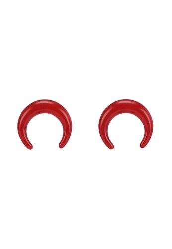 niko and ... red Acrylic Earrings 7A666AC44B184DGS_1