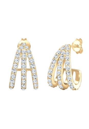 ELLI GERMANY gold Earrings Creole Crystals Goldplated 0FA55AC4363521GS_1