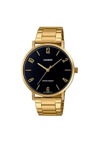 CASIO gold CASIO GENERAL MTP-VT01G-1B2UDF MEN'S WATCH 85D3AACD98D01AGS_1