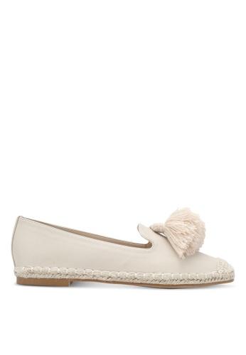 ZALORA beige Faux Leather Tassel Loafers 8A19ASH21A725FGS_1