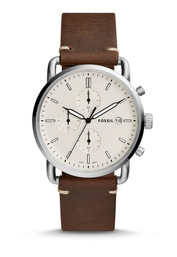 Fossil brown Fossil The Commuter Chrono Watch FS5402 43EC1AC142C568GS_1