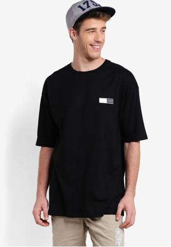 Factorie black Short Sleeved Shrug Tee FA113AA49YOKID_1