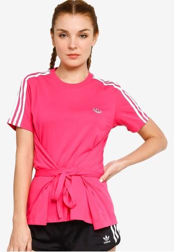 ADIDAS pink tie belt tee 1B707AA01DE5FBGS_1