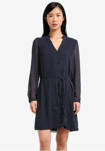 Mango blue Printed Chiffon Dress MA193AA0RXSWMY_1