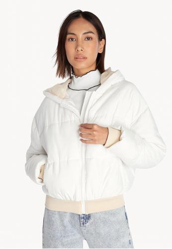 Pomelo white Puffer Jacket - White 13882AA3BF00FEGS_1