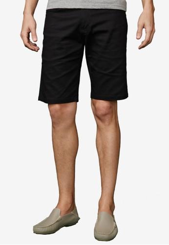 質esprit au感型男。基本休閒彈性短褲-02308-黑色, 服飾, 短褲