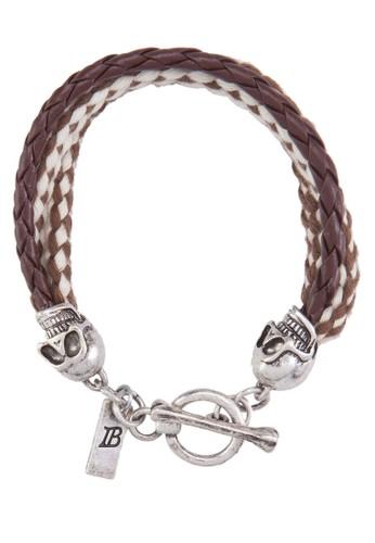 骷髏頭編繩手鍊, 飾品配件,esprit 品牌 飾品配件