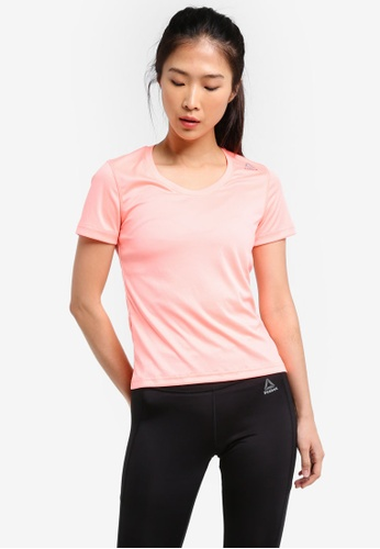 Reebok pink Foundation Running Essentials Short Sleeve Tee RE691AA0SX53MY_1