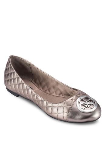 zalora 內衣Quali 扣環菱格紋軟襯平底鞋, 女鞋, 鞋