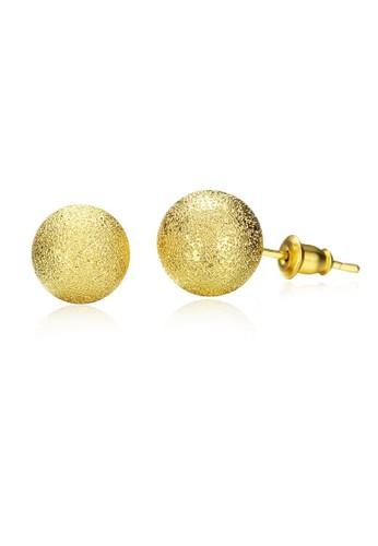 Tiaria yellow Tiaria Popular Round Earrings Gold Coated Aksesoris Perhiasan Anting AKE060-B--K16 74EE0ACD1997A6GS_1