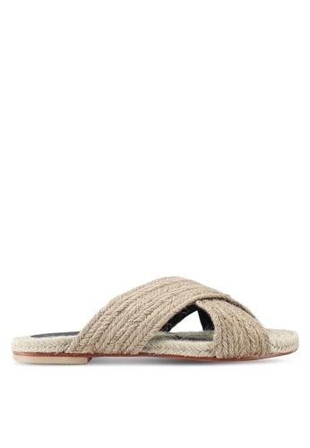 TOPSHOP beige Rope Sliders 728E3SHAF457ADGS_1