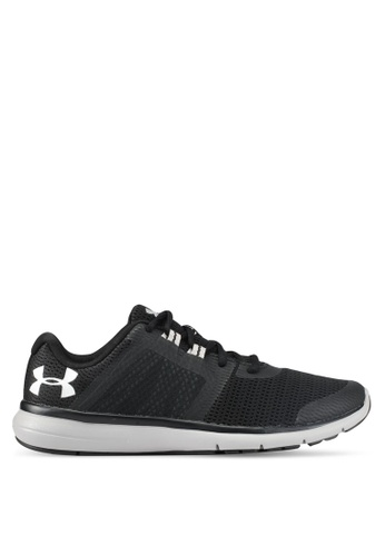 Under Armour black and white UA Fuse FST Shoes UN337SH0SU9QMY_1