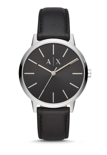 Armani Exchange black Cayde Three Hand Watch AX2703 FD526AC9F9E4C1GS_1