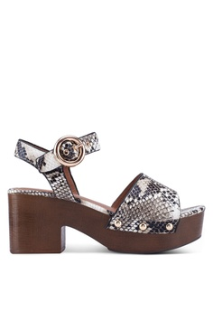 e3c52774aa TOPSHOP multi Dinky Snakeskin Clog Sandals F095ESH05B733EGS_1