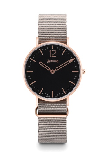 Axis black and grey and brown AXIS - Nato Band Quartz Watch / Classic Collection 1BBC1AC88AEC74GS_1