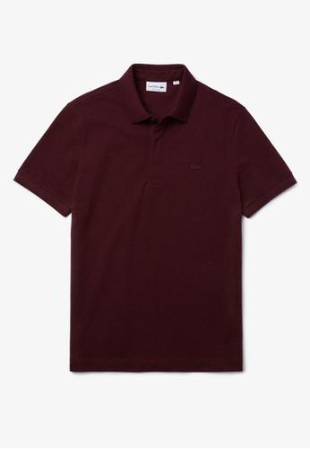 LACOSTE Men's Lacoste Paris Polo Shirt Regular Fit Stretch Cotton Piqué 0C0F0AAB23DB9AGS_1