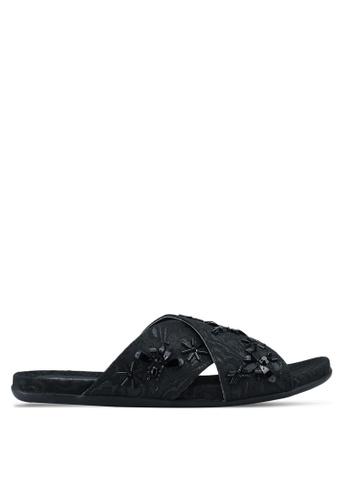 Kenneth Cole black Slim Bug Sandals 9448ASH1CA61BBGS_1