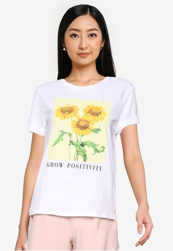 Springfield white Simple T-Shirt 31383AAF1679FBGS_1