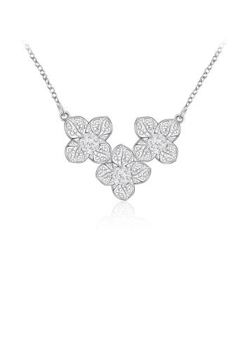 Glamorousky silver Elegant Flower Necklace 17C6DACA906F49GS_1